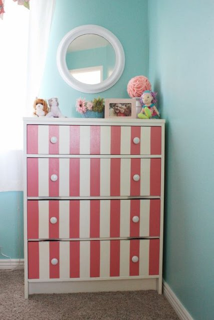 Pink and Turquoise Room Dresser. Pink and Turquoise Big Girl Room   Design Dazzle