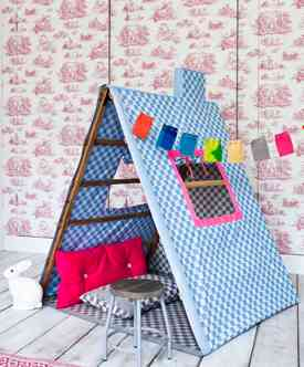 Create a Reading Nook From a Clothes Drying Rack