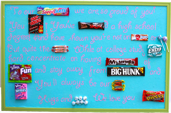 graduation gift candy gram for high school senior design dazzle