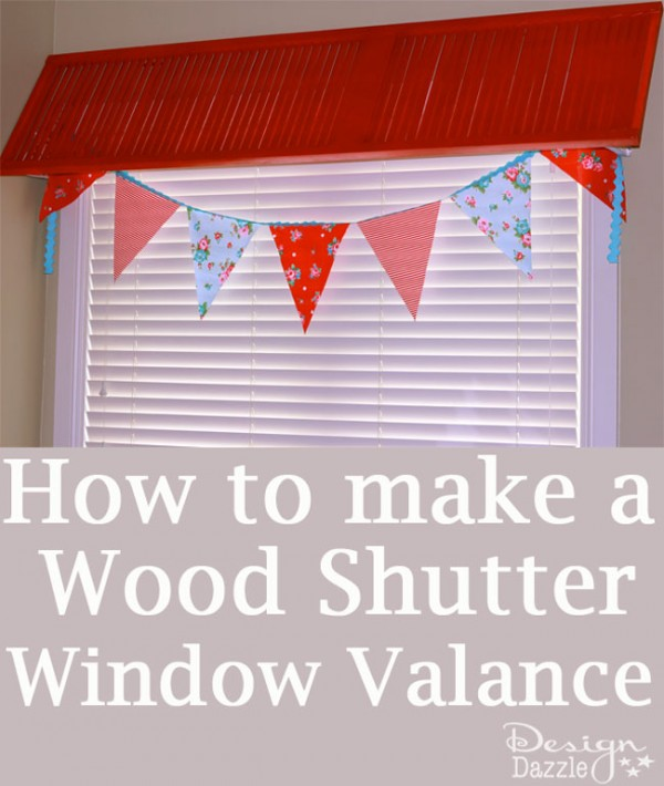 How to make a wood shutter window valance