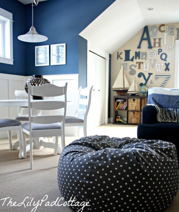 Blue Kids Room: Nautical Kids Playroom