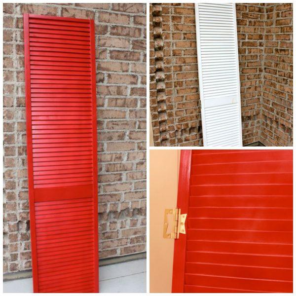red shutter valence