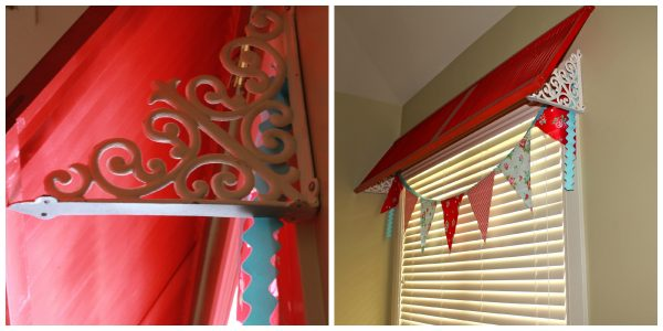 wood shutter valance how-to
