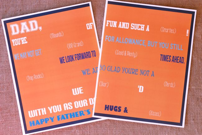 fathers day printable candy gram - Design Dazzle