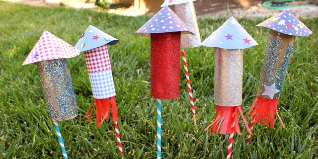 4th of July TP Roll Rockets