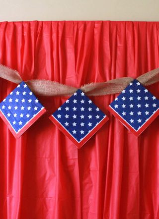 The 10 Minute Fourth of July Party Backdrop {Only $5}