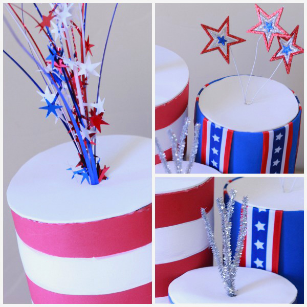 4th of July kids crafts using foam and empty containers - Design Dazzle