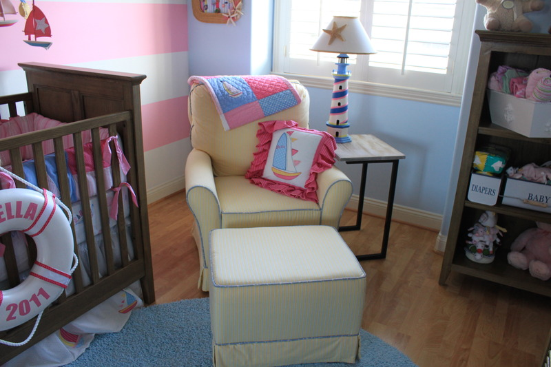 nautical girl room chair