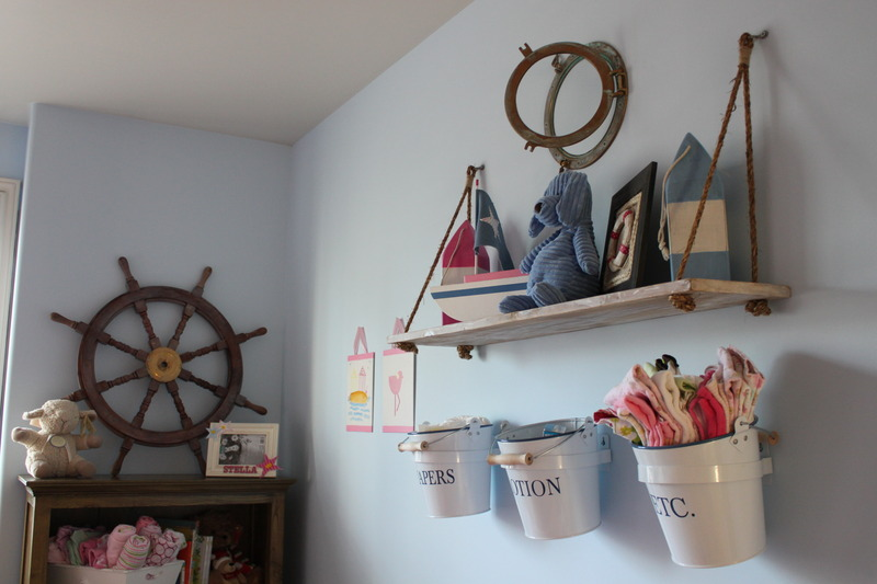 nautical girl room display