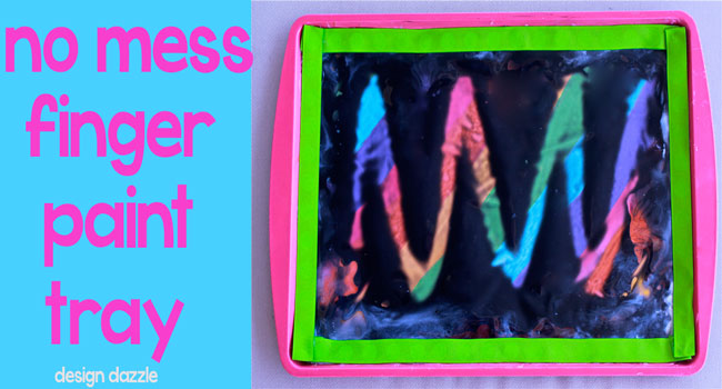 DIY: finger paint tray --Design-Dazzle