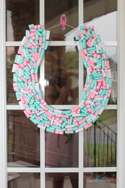 girl birthday party horse wreath