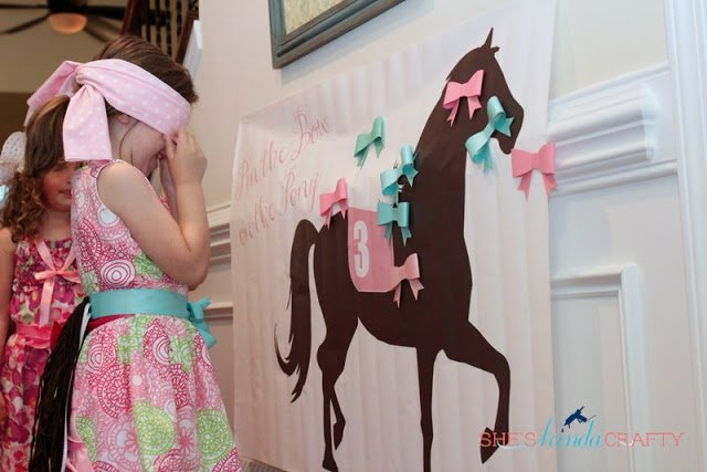 girl horse birthday party game