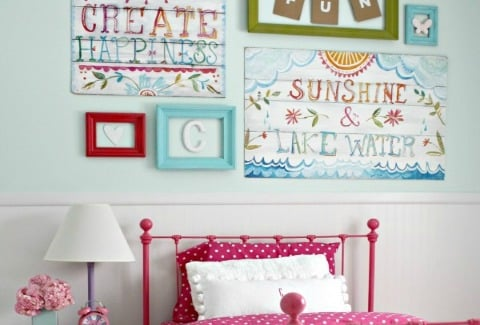 Big-girl-room-aqua and pink