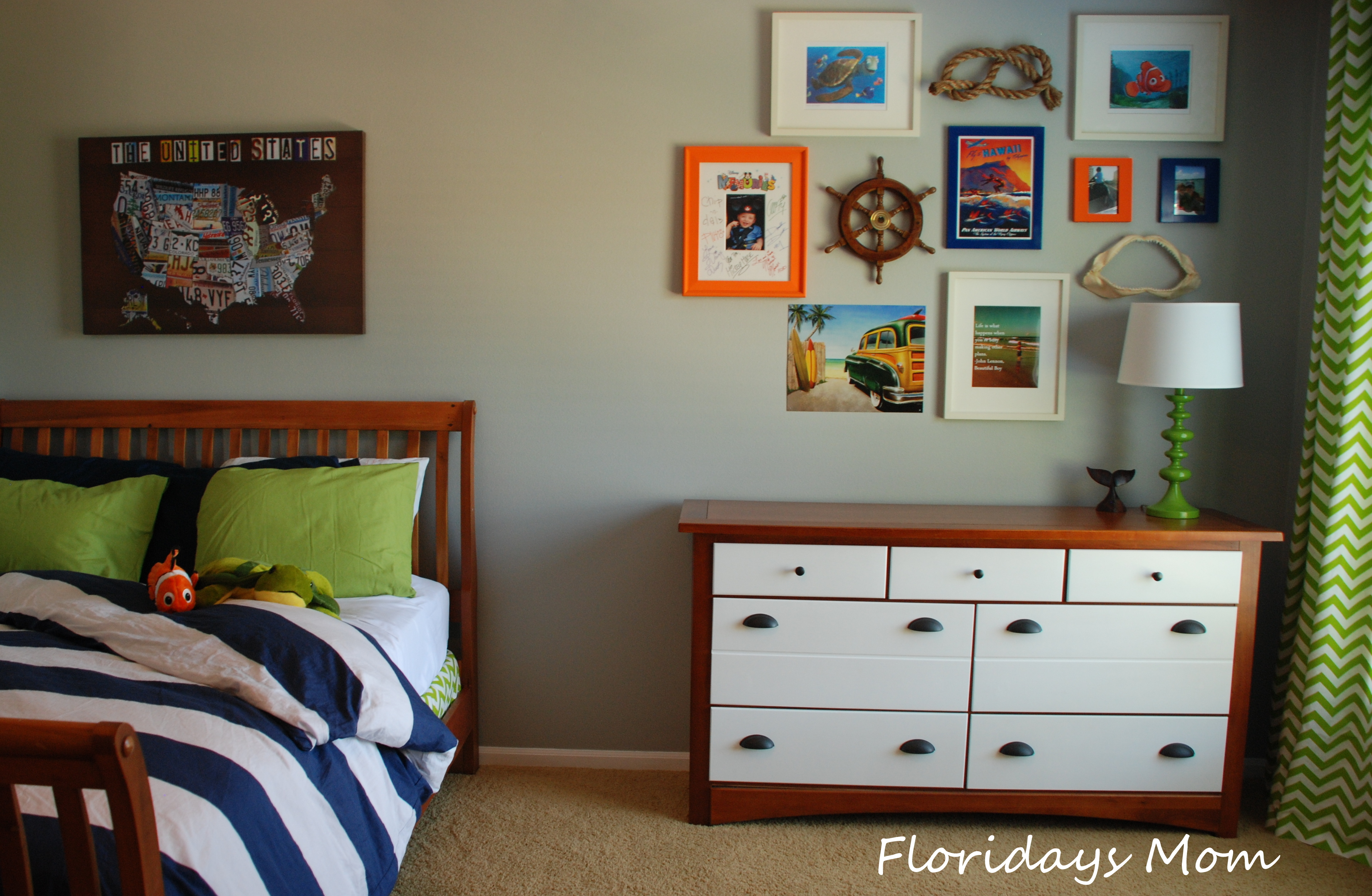 Modern Nautical Gallery Wall