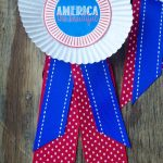 Summer Camp: Patriotic Medallion Tutorial with FREE Printable