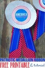 Summer Camp: Patriotic Medallion Tutorial with FREE Printable