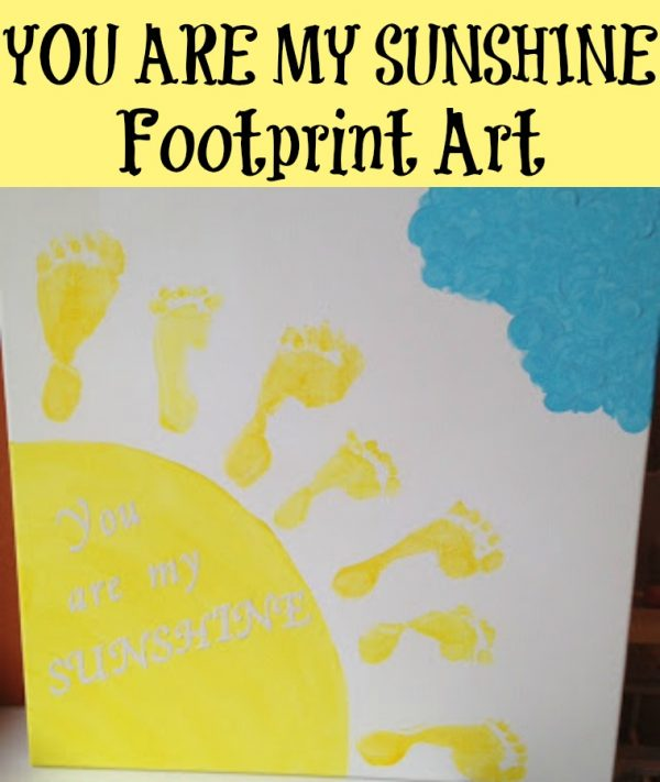 SUNSHINE Footprint Art! Perfect kids craft for this summer! Easy and fun craft!
