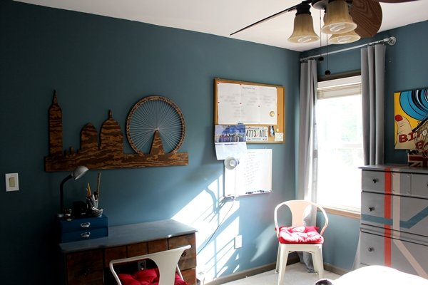 Rustic Modern Teen Boys Room decorating ideas