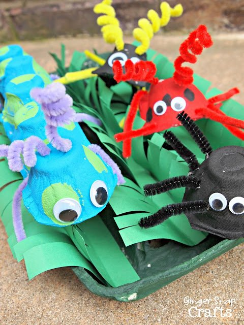 Summer time Kids Crafts! How to make super cool bugs!