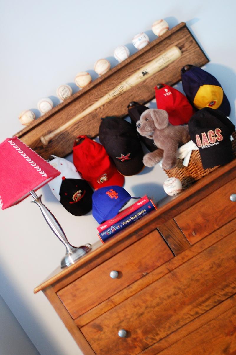 contemporary colorful boys room shelf