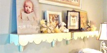 changing table decor vintage baby nursery