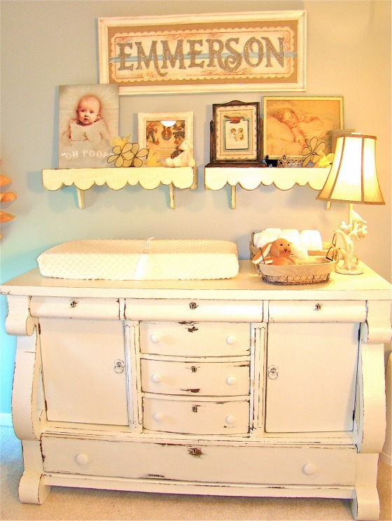 Vintage Neutral Girls Nursery Room - wall paint color is Rhino - Design Dazzle