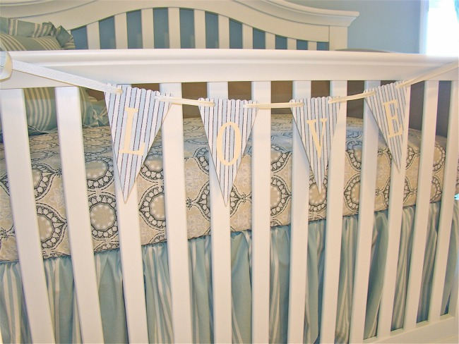 Vintage Girls Nursery crib