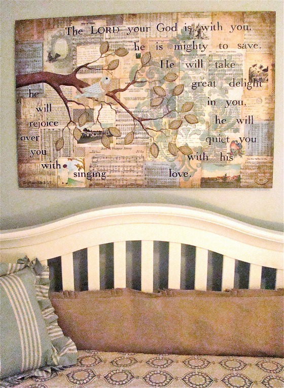 Blue Vintage Girls Nursery