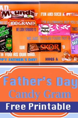 Father's Day Candy Gram {Free Printable}