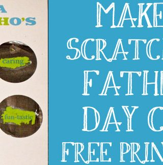 """Make Your Own """"Scratch-Off"""" Father's Day Card"""