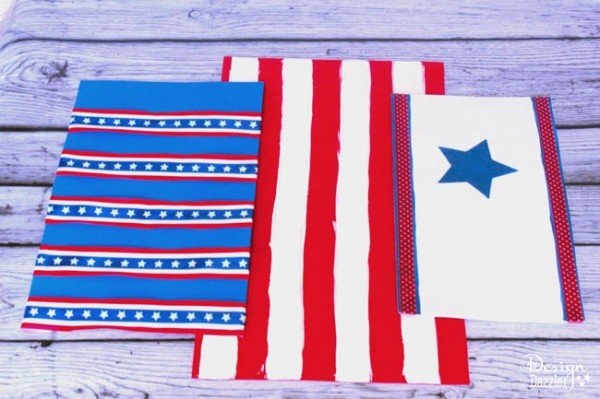 4th of July kids crafts using foam sheets and empty containers - Design Dazzle