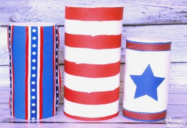 Fourth of July kids crafts made from recyclables - Design Dazzle