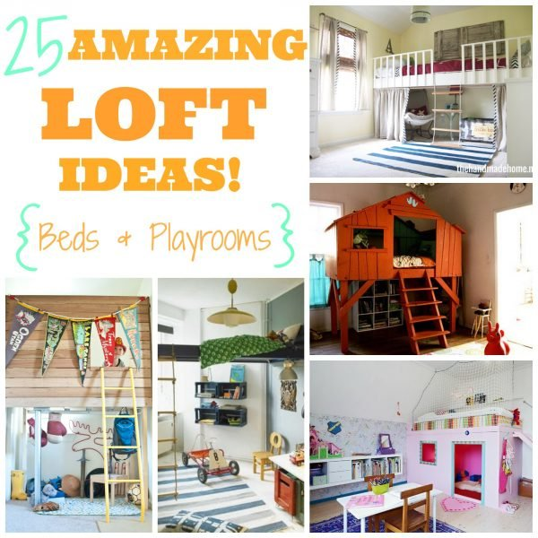 25 Amazing Loft Ideas -- Beds and Playrooms - Design Dazzle