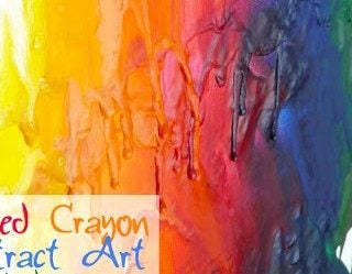 Summer Camp: Melted Crayon Abstract Art Canvas
