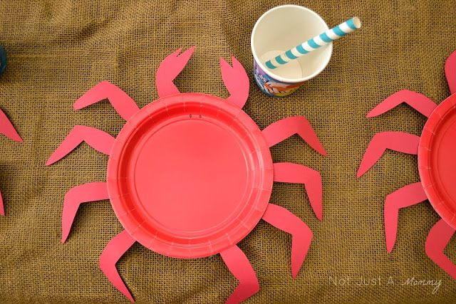A Day At The Beach playdate party table crab plates