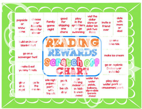 Reading Rewards Chart with activities