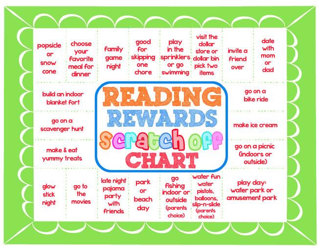 Design Dazzle reading chart with scratch off rewards!!