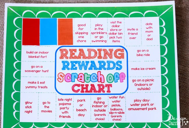 Reading Rewards Scratch Off Chart Free Printable
