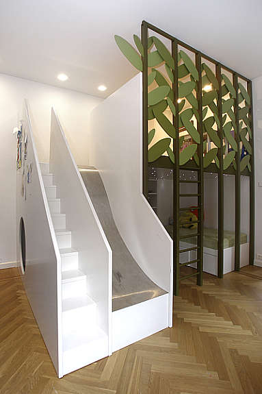 Loft Beds with Stairs and Slide 383 x 575