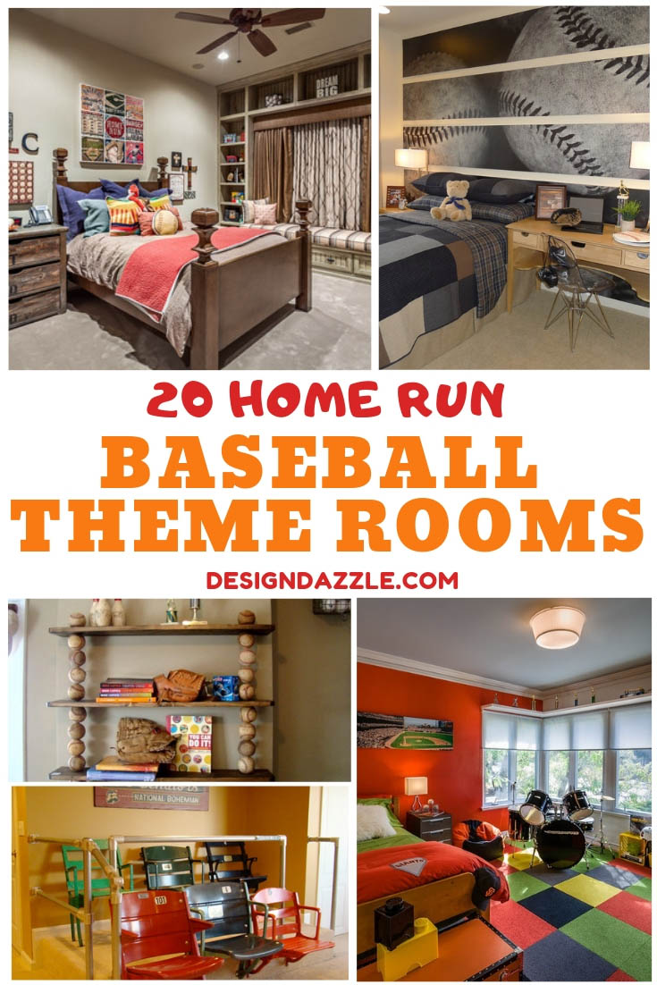 20 Baseball Themed Bedroom Decoration Ideas Boys Home Run Room