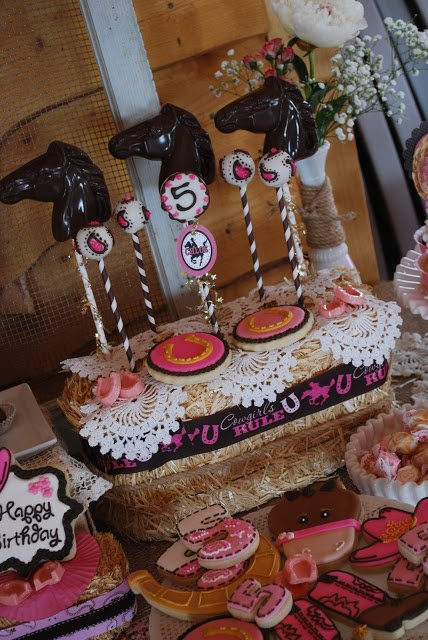 cowgirl princess party display