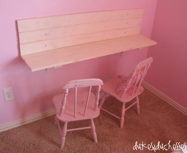 diy children's wall desk