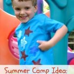 Summer Camp: Sponge Painted T-Shirts