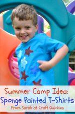 Summer Camp: Sponge Painted T-Shirts