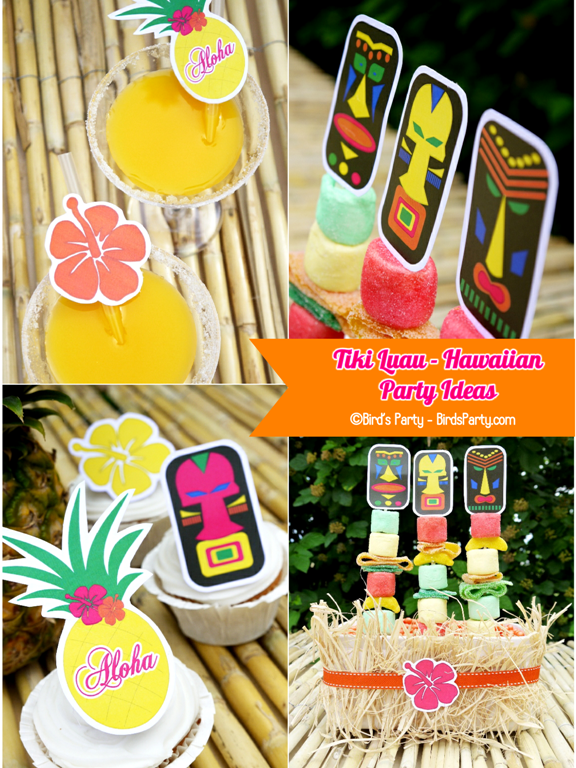 Tiki Luau Free Hawaiian Party printables party ideas partyware summer party party ideas shop supplies