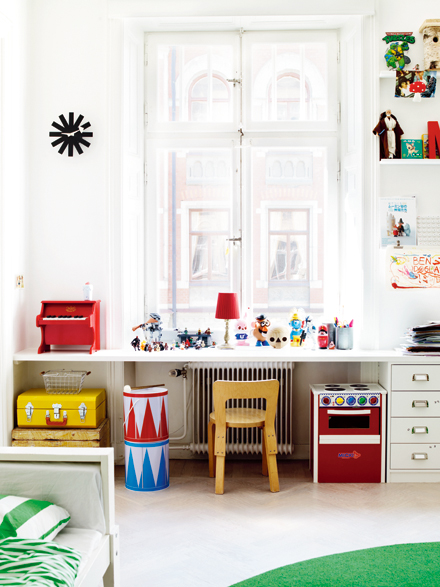 creative kids playroom including a kids workshop