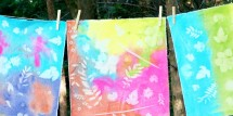 acrylic paint sun prints 11