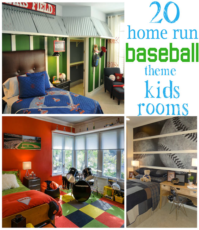 20 Home Run Baseball Theme Kids Rooms