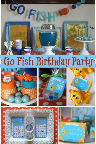 """Go Fish"" Birthday Party"