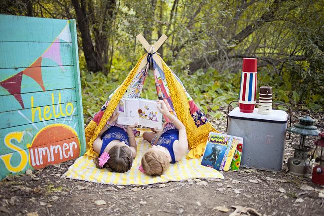 Hello summer outdoor reading tent - Design Dazzle